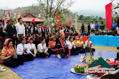 Ceremony to pray for rain of white Thai People