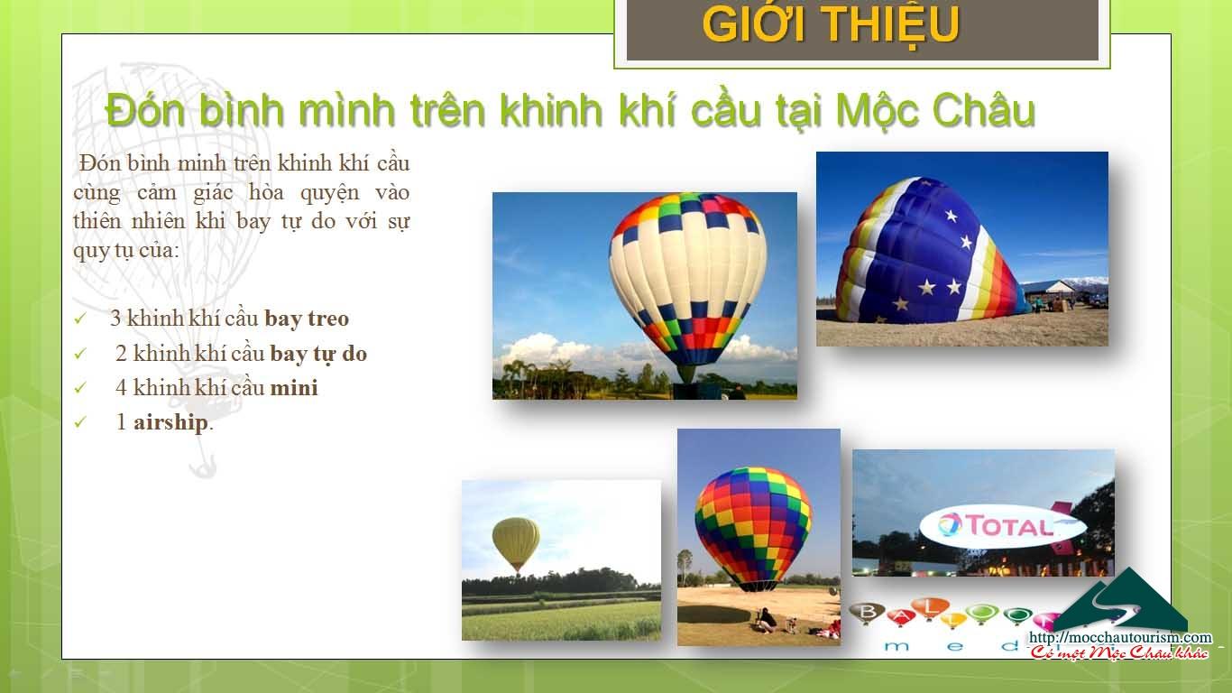 THÔNG BÁO Chương trình tổ chức bay khinh khí cầu Quốc tế tại huyện Mộc Châu