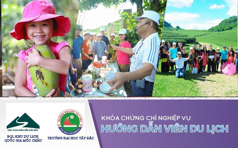 Thông báo về việc mở lớp đào tạo Hướng dẫn viên miễn phí tại Mộc Châu, Vân Hồ