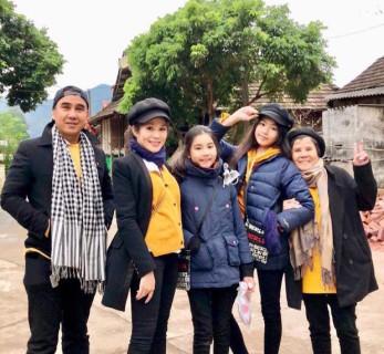 Nghệ sỹ Quyền Linh khoe ảnh cùng gia đình nghỉ dưỡng tại Mộc Châu.
