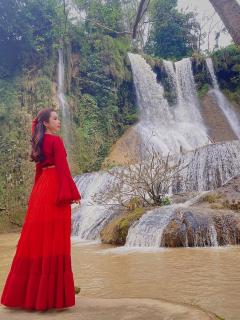 Hoa hậu du lịch thế giới 2018 Huỳnh Vy hoá thiếu nữ Tây Bắc khám phá Mộc Châu