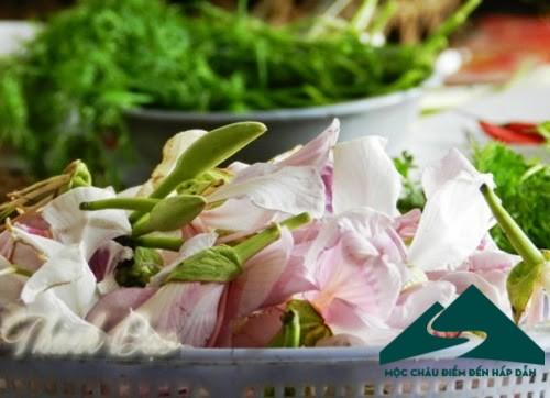 chế biến món ăn từ hoa ban mộc châu
